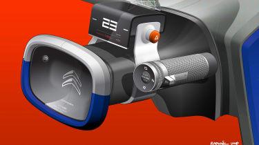 Citroen AMI ONE concept - steering wheel sketch