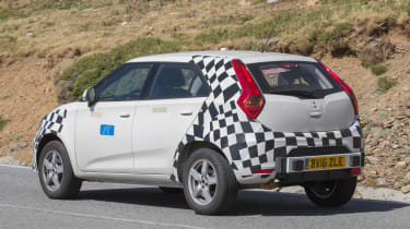 MG ZS spied - side