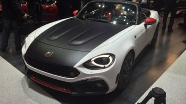Abarth 124 Spider - Geneva show - front/top