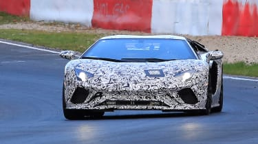 Lamborghini Aventador facelift spied 1