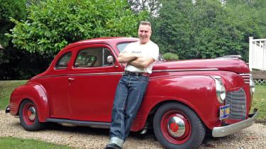 Organiser Jerry Chatabox loves his 1941 De Soto coupé.