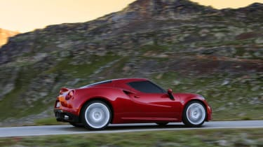 The Alfa Romeo 4C uses a turbocharged four-cylinder engine packing 237bhp.