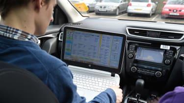 Real world emissions testing laptop