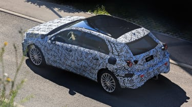 Mercedes A-Class spy shot - rear