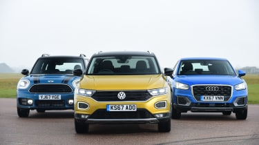 Volkswagen T-Roc vs Audi Q2 vs MINI Countryman - header