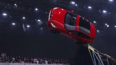 Jaguar E-Pace barrel roll world record stunt upside down