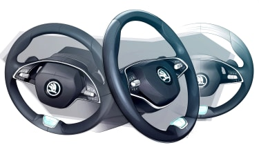 Skoda Octavia - steering wheel sketch