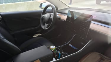 tesla model 3 spy shot interior