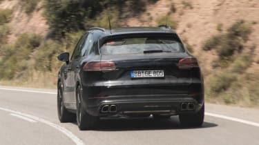 Porsche Cayenne prototype - rear tracking