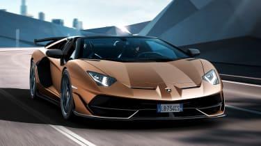 Lamborghini Aventador SVJ Roadster - front action