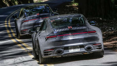 porsche 911 992 prototype rear driving