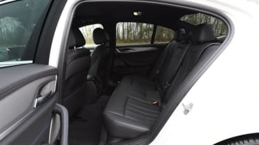 BMW 5 Series - rear seats black leather
