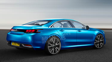Peugeot 508 - rear (watermarked)