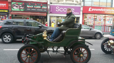 London to Brighton Veteran Car Run  -  Steve in Vauxhall