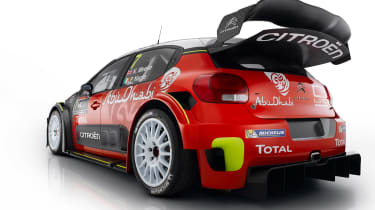 Citroen C3 WRC 2017 white background rear