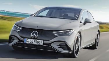 Mercedes EQE - front grey