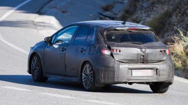 New Toyota Auris spied rear 3/4