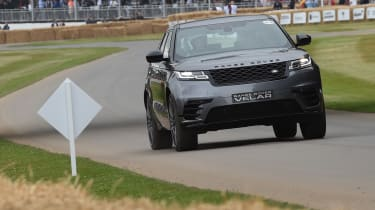 Range Rover Velar ride Goodwood nose