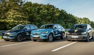Cupra Born vs Mercedes EQA vs Volvo C40 Recharge