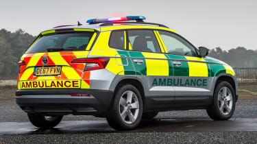 Skoda Karoq ambulance - rear static
