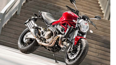 Ducati Monster 821 review - parked