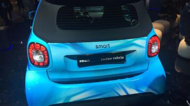 Smart EQ ForTwo Cabrio - Geneva rear