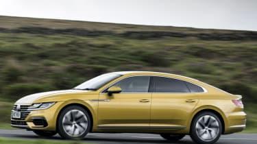 Volkswagen Arteon review - gold side profile