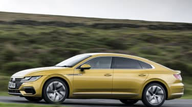 Volkswagen Arteon review - gold side profile