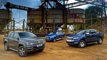 Volkswagen Amarok vs Mitsubishi L200 vs Ford Ranger - group