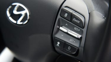 Hyundai Kona electric steering wheel