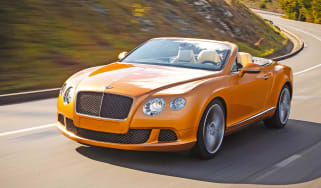 Bentley GT Speed Convertible front tracking