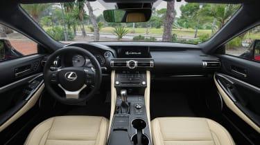 Lexus RC 300h F-Sport interior