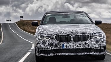 BMW 5 Series prototype 2016 - front tracking 3