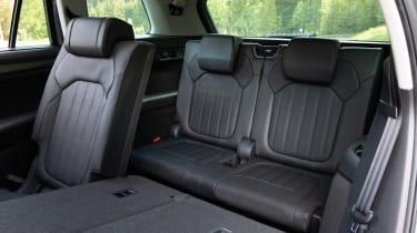 2021 facelifted Skoda Kodiaq SUV - rear seats