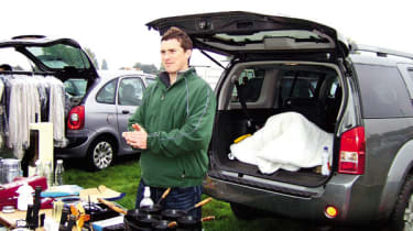 Features editor Mat Watson put Nissan to good use at car boot sale