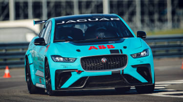 Jaguar I-Pace eTrophy - cornering