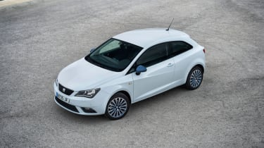 SEAT Ibiza 2015 facelift - overhead 3-door
