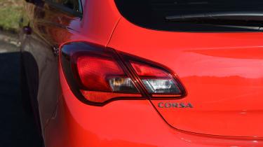 Vauxhall Corsa Red Edition - rear light