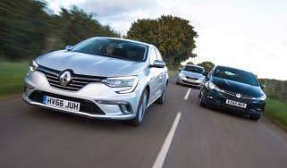 Renault Megane vs Vauxhall Astra vs Peugeot 308 - header