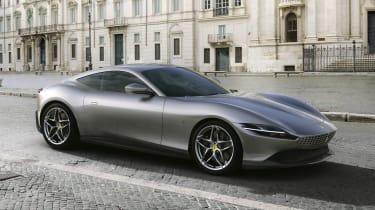 The Ferrari Roma is due to slot into the line-up between the Portofino and the F8 Tributo with a classy, minimal look and 612bhp V8 power.