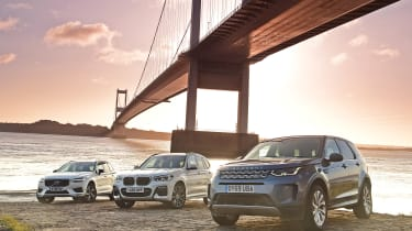 Land Rover Discovery Sport, BMW X3, Volvo XC60 - group