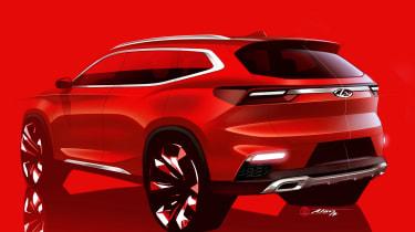 Chery SUV teaser rear quarter