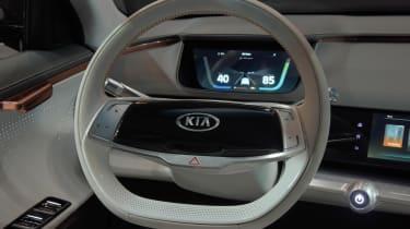 Kia Niro EV - CES steering wheel