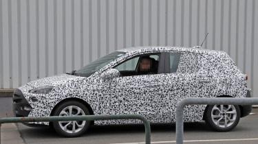 2018 Vauxhall Corsa spy shots profile