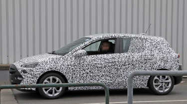 2018 Vauxhall Corsa spy shots profile