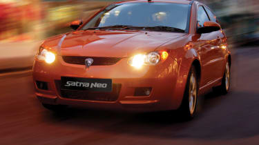 Proton Satria Neo hatchback front tracking