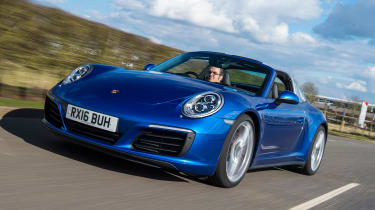 Porsche 911 Targa 2016 UK - front tracking
