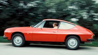 Lancia Fulvia coupe side profile red