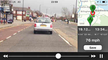 Dash cam app product test save drives