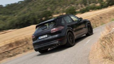 Porsche Cayenne prototype - rear cornering